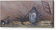 Autumn Buddha Acrylic Print