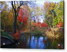 Autumn By The Creek Acrylic Print