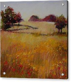 Autumn Field Acrylic Print by Jeanne Rosier Smith