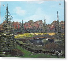 Acrylic Print featuring the painting Autumn Landscape by Jan Dappen