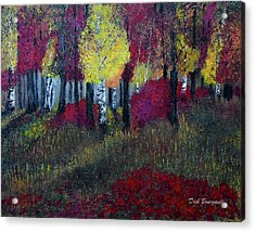 Autumn Peak Acrylic Print