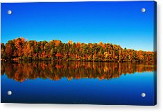 Acrylic Print featuring the photograph Autumn Reflections by Andy Lawless