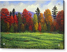 Autumn Trees Acrylic Print by Frank Wilson