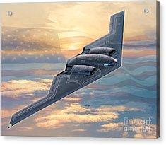 B-2 Spirit Acrylic Print by Stu Shepherd