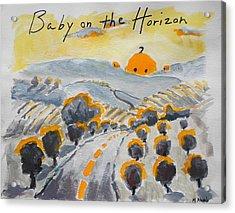 Baby On The Horizon Acrylic Print by Margaret  Plumb