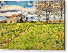 Back Roads Of Kentucky Acrylic Print by Darren Fisher
