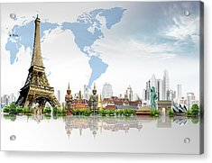 Background Travel Concept  Acrylic Print by Potowizard Thailand