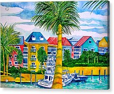 Bahamian Blues Acrylic Print
