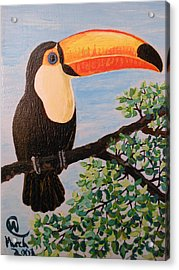 Balance That Beak Acrylic Print by Martha Cervantes