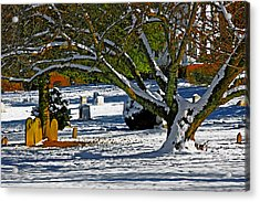 Baldwin Memorial United Methodist Church Cemetery Acrylic Print