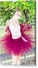 Ballerina Stretching And Warming Up Acrylic Print by Jorgo Photography - Wall Art Gallery