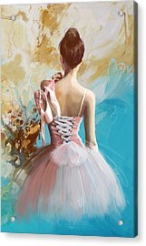 Ballerina's Back Acrylic Print by Corporate Art Task Force