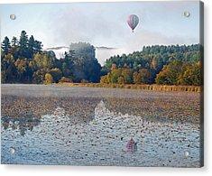 Balloon Rise At Dawn Acrylic Print by Gloria Merritt