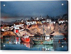 Ballycotton Harbour East Cork Acrylic Print