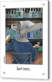 Bar None... Acrylic Print by Will Bullas