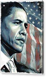 Barack Obama Artwork 2 Acrylic Print by Sheraz A