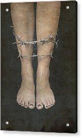 Barbed Wire Acrylic Print by Joana Kruse