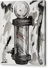 Barber Pole Acrylic Print by The Styles Gallery