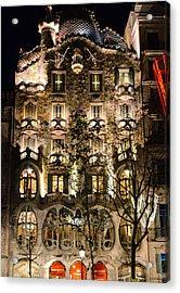 Barcelona - Casa Batllo Acrylic Print by Andrea Mazzocchetti