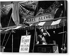 Barker At The Vermont State Fair 1941 Acrylic Print