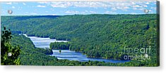 Barkhamsted Reservoir Acrylic Print by HD Connelly