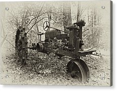Barksdale Tractor Acrylic Print by Russell Christie