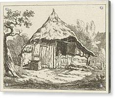 Barn With Open Upper Door, Carel Lodewijk Hansen Acrylic Print by Artokoloro