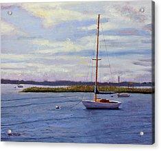 Barnegat Bay Morning Acrylic Print by Mark Hunter
