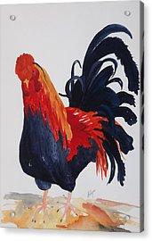 Barnyard Boss II Acrylic Print by Ellen Levinson