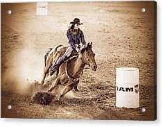 Barrel Racing Acrylic Print by Caitlyn  Grasso