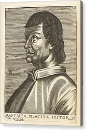 Bartolommeo De Sacchi Known Acrylic Print by Mary Evans Picture Library