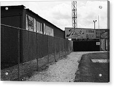 Baseball Field Bull Durham Sign Acrylic Print by Frank Romeo