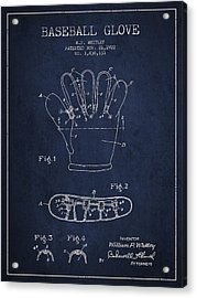 Baseball Glove Patent Drawing From 1922 Acrylic Print