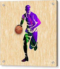 Basketball Player Acrylic Print by Marvin Blaine