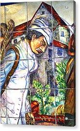 Bastille Metro 3 Acrylic Print by A Morddel