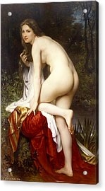 Bather Acrylic Print by William-Adolphe Bouguereau