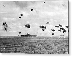 Battle Of Midway Acrylic Print by Underwood Archives