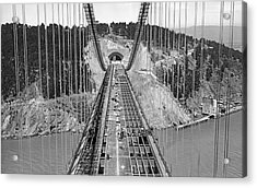Bay Bridge Under Construction Acrylic Print