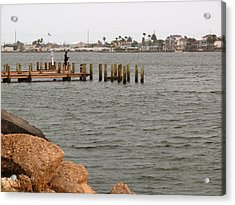 Bay Fishing Acrylic Print