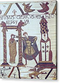 Bayeux Tapestry. 1066-1077. Tapestry Acrylic Print by Everett