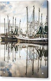 Bayou Labatre' Al Shrimp Boat Reflections Acrylic Print