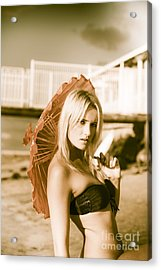 Beach Enchantress Acrylic Print
