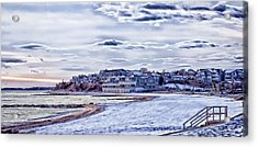 Acrylic Print featuring the photograph Beach In Winter Photo Art by Constantine Gregory