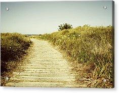 Beach Trail Acrylic Print by Les Cunliffe
