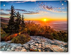 Beacon Heights Sunrise Acrylic Print by Anthony Heflin