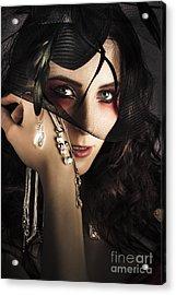 Beautiful Female Fashion Model In Luxury Jewellery Acrylic Print