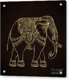 Beautiful Hand-drawn Tribal Style Acrylic Print