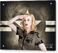 Beautiful Pinup Girl In Vintage And Retro Fashion Acrylic Print by Jorgo Photography - Wall Art Gallery