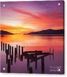 Beautiful Sunset Acrylic Print by Colin and Linda McKie