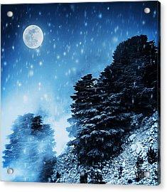 Beautiful Winter Landscape Acrylic Print by Anna Om